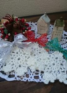 雪の結晶のクリスマスオーナメント♡